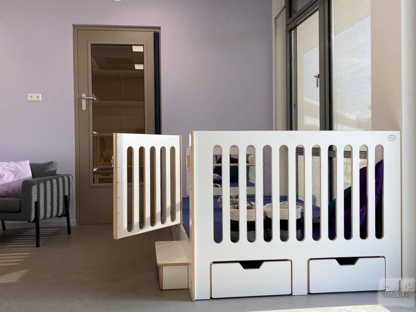 verhoogde grondbox in de kinderopvang van Studio Hagelslag